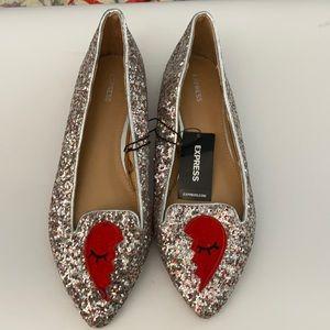 Express Women's Glitter Flat Shoes